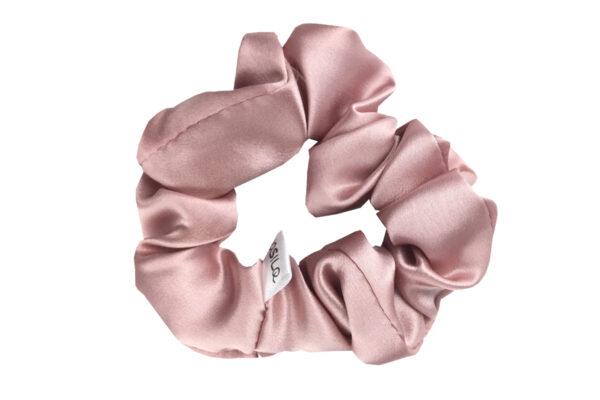jedwabna gumka do włosów róż