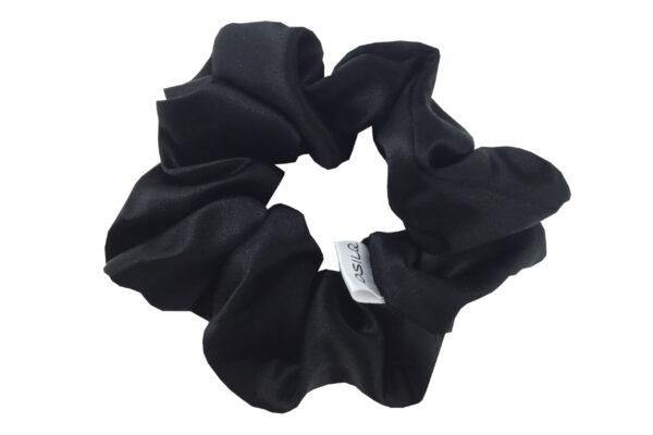 jedwabna gumka do włosów czarna