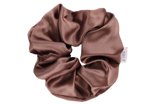 jedwabna gumka do włosów maxi mleczna czekolada