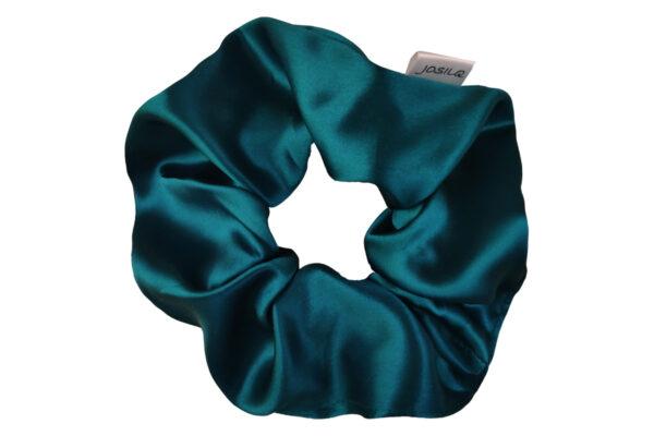 jedwabna gumka do włosów maxi błękit królewski