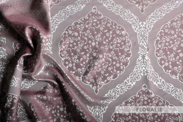 jedwabna pościel żakardowa floralia